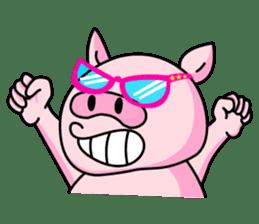 lovely pig sticker #274955