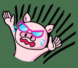 lovely pig sticker #274959