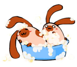 Heart Tail Rabbit sticker #277232