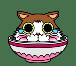 Bowl in cat sticker #281107