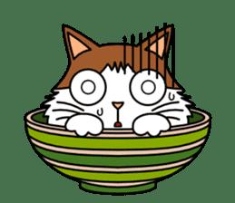 Bowl in cat sticker #281108