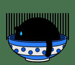 Bowl in cat sticker #281110