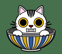 Bowl in cat sticker #281119