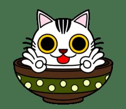 Bowl in cat sticker #281120