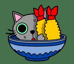 Bowl in cat sticker #281121