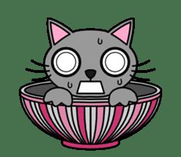 Bowl in cat sticker #281122