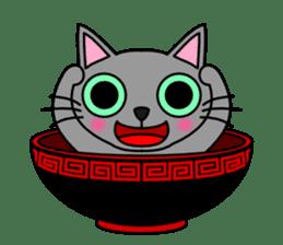 Bowl in cat sticker #281124