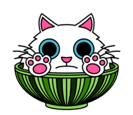 Bowl in cat sticker #281127