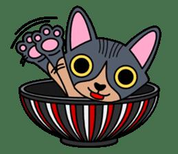 Bowl in cat sticker #281131