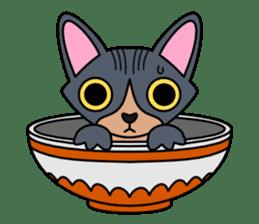 Bowl in cat sticker #281132