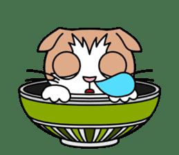 Bowl in cat sticker #281133