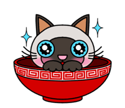 Bowl in cat sticker #281137