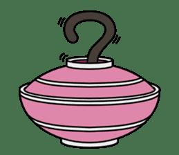 Bowl in cat sticker #281140