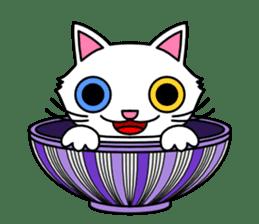 Bowl in cat sticker #281141