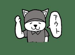 baseball cat sticker #281346