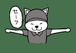 baseball cat sticker #281347