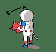 baseball cat sticker #281348