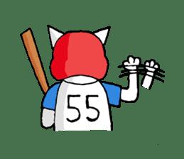 baseball cat sticker #281350