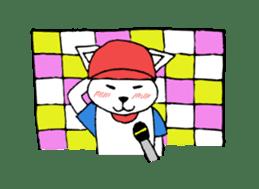 baseball cat sticker #281351