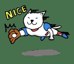baseball cat sticker #281353