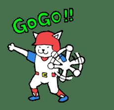 baseball cat sticker #281354