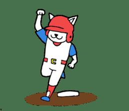 baseball cat sticker #281355