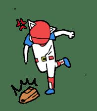 baseball cat sticker #281359