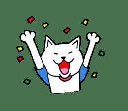 baseball cat sticker #281360