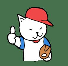 baseball cat sticker #281363