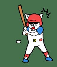 baseball cat sticker #281370