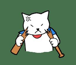 baseball cat sticker #281371