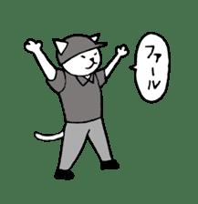 baseball cat sticker #281373