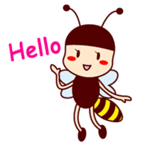 Bee girl Hana sticker #281785