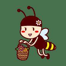 Bee girl Hana sticker #281786