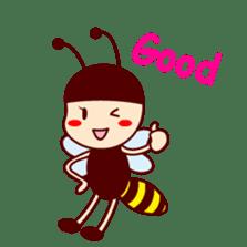 Bee girl Hana sticker #281794