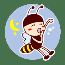 Bee girl Hana sticker #281818