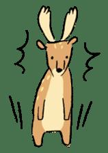 Animals inhabit the calm forest sticker #284269