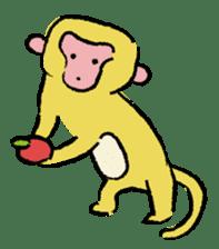 Animals inhabit the calm forest sticker #284278