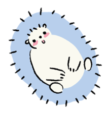 Animals inhabit the calm forest sticker #284279