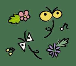 Animals inhabit the calm forest sticker #284283