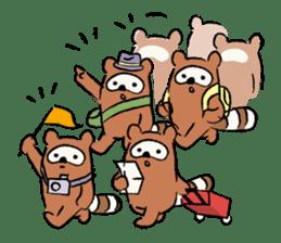 Animals inhabit the calm forest sticker #284285