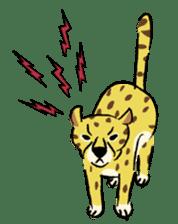 Animals inhabit the calm forest sticker #284286