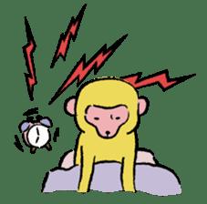 Animals inhabit the calm forest sticker #284287