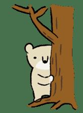Animals inhabit the calm forest sticker #284298