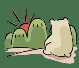 Animals inhabit the calm forest sticker #284303