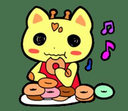 Doughnut of the giraffe sticker #285205