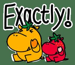 Orange Hippo sticker #285866