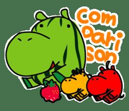 Orange Hippo sticker #285868