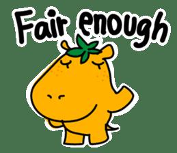 Orange Hippo sticker #285871