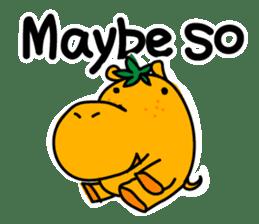 Orange Hippo sticker #285875